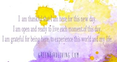 ritual morning thankfulness