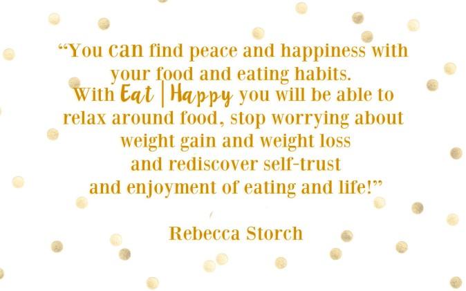 EAT HAPPY quote